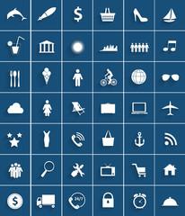 Mega Set of Flat Icons Vector Illustration.