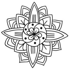 Ornamental mandala isolated. Vector art