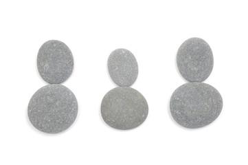 Row of three pile of stones