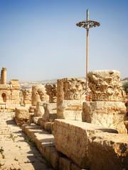 Ruined columns, Jerash, Jordan