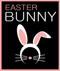 easter bunny graphic design with ears