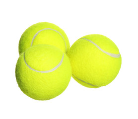 Tennis Balls isolated on white background. Closeup