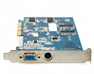 VGA computer graphic card isolated