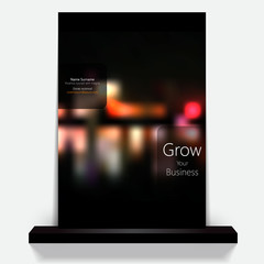 City Night Bokeh Cover or flyer design