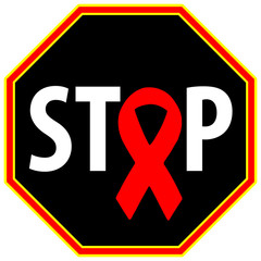 Stop Aids. Concept of helping to prevent HIV