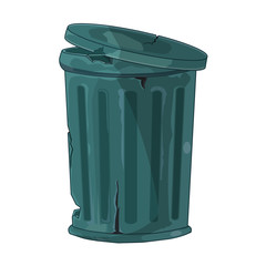 Trash Can isolated illustration