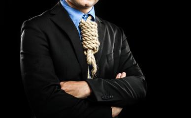 Hanged businessman