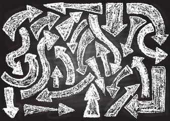 Chalk on board.  Vector illustration.