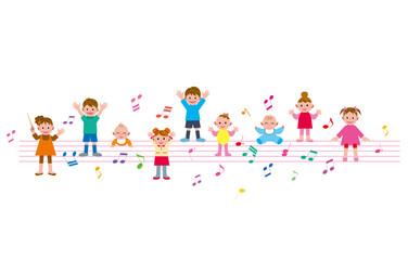 子供 五線譜 音符