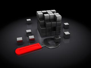 cube puzzle building