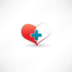 heart and medical cross