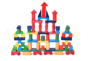 wooden bricks castle