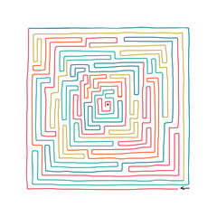 Hand drawn labyrinth
