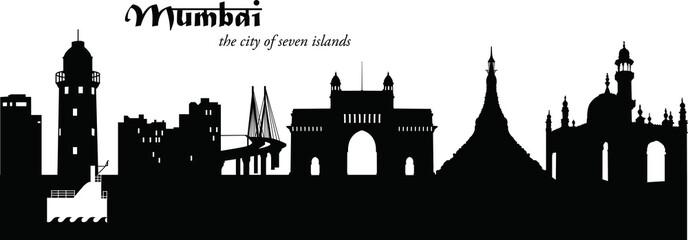 Deurstickers Mumbai_Cityscape