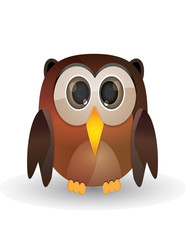 Brown owl cartoon