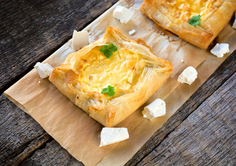 Cheese pastry on the table