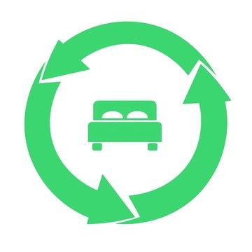 Lit dans un symbole recyclage