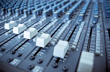 Audio Engineer Mixing Board
