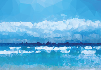 Background texture triangle geometry blue experience abstract