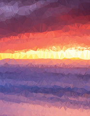 Background texture triangle geometry sunset painting