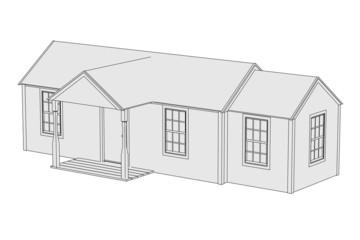 cartoon image of US house