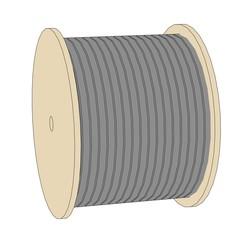 cartoon image of wire spool
