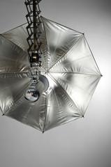 Foto Studio Kompaktblitz mit Reflexschirm silber