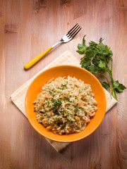 risotto with smoked salmon