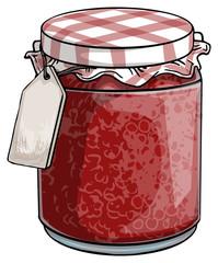 Red Jam jar
