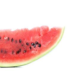 Half of watermelon slice.