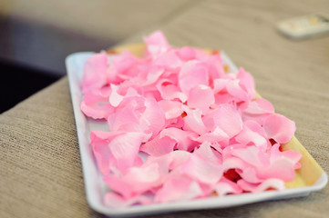 Tray with Petals
