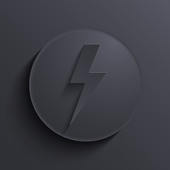 Vector modern dark circle icon. Eps10