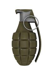 Pineapple Grenade on White