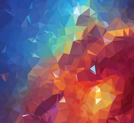 Background texture triangle geometry colorful galaxy painting