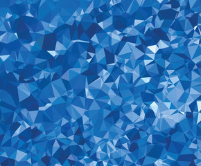 Background modern texture triangle geometry blue wrinkly paper