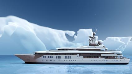 Luxusyacht in der Arktis