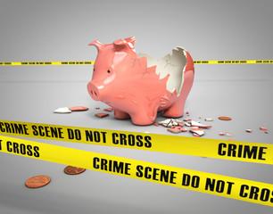 stolen piggy bank