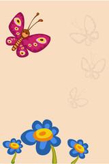 butterfly flower congratulation