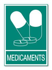 Panneau médicaments.