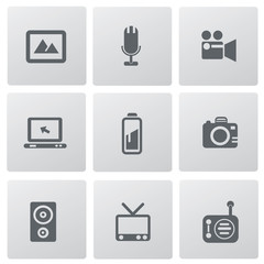 Media icon set,vector