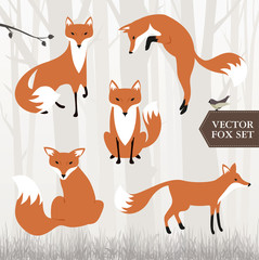 Illustrated fox vector file