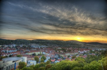 Sonnenuntergang Arnstadt