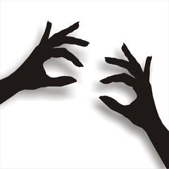 halten zeigen vorführen hände finger vektor grafik