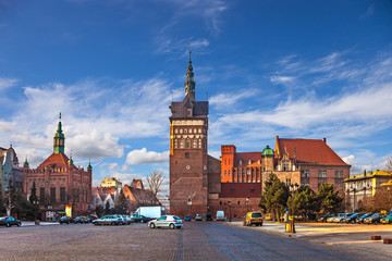 Torture House and Prison Tower in Gdansk, Poland.