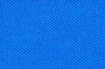 Bright blue cotton pique textile