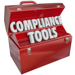 Wall Mural - Compliance Tools Toolbox Skills Knowledge Following Rules Laws