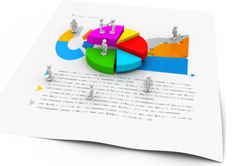 Business people with graph chart