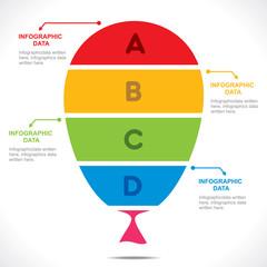 creative balloon info-graphics design vector