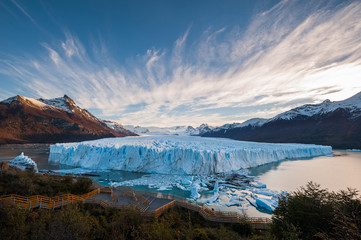 Perito Moreno Glacier in the autumn afternoon, Argentina. Wall mural