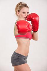 Pretty attractive caucasian fitness woman
